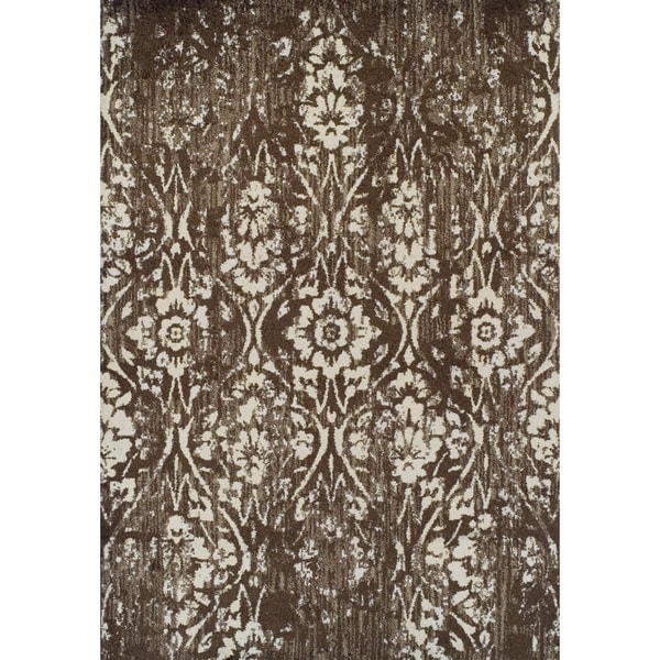 Damask Taupe Rug: Shop ADDISON Blair Vintage Damask Brown/Taupe Area Rug (4