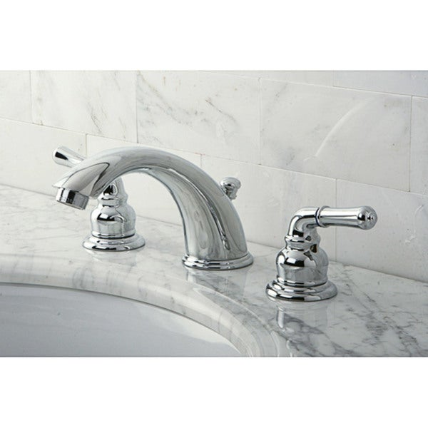 Shop Stylish Chrome Widespread Bathroom Faucet - On Sale - Free ...