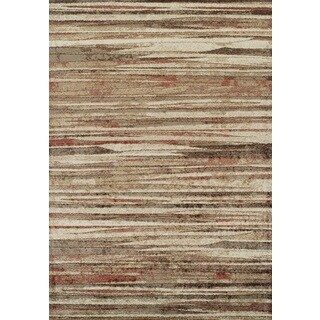 """ADDISON Blair Abstract Striped Spice/Beige Area Rug (4'11""""X7')"""