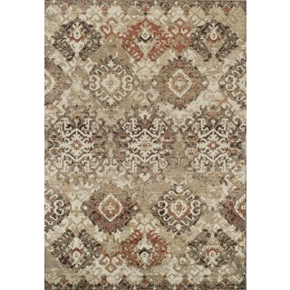 Addison Rugs Blair Beige/Ivory Distressed Ikat Area Rug (4'11 x 7')