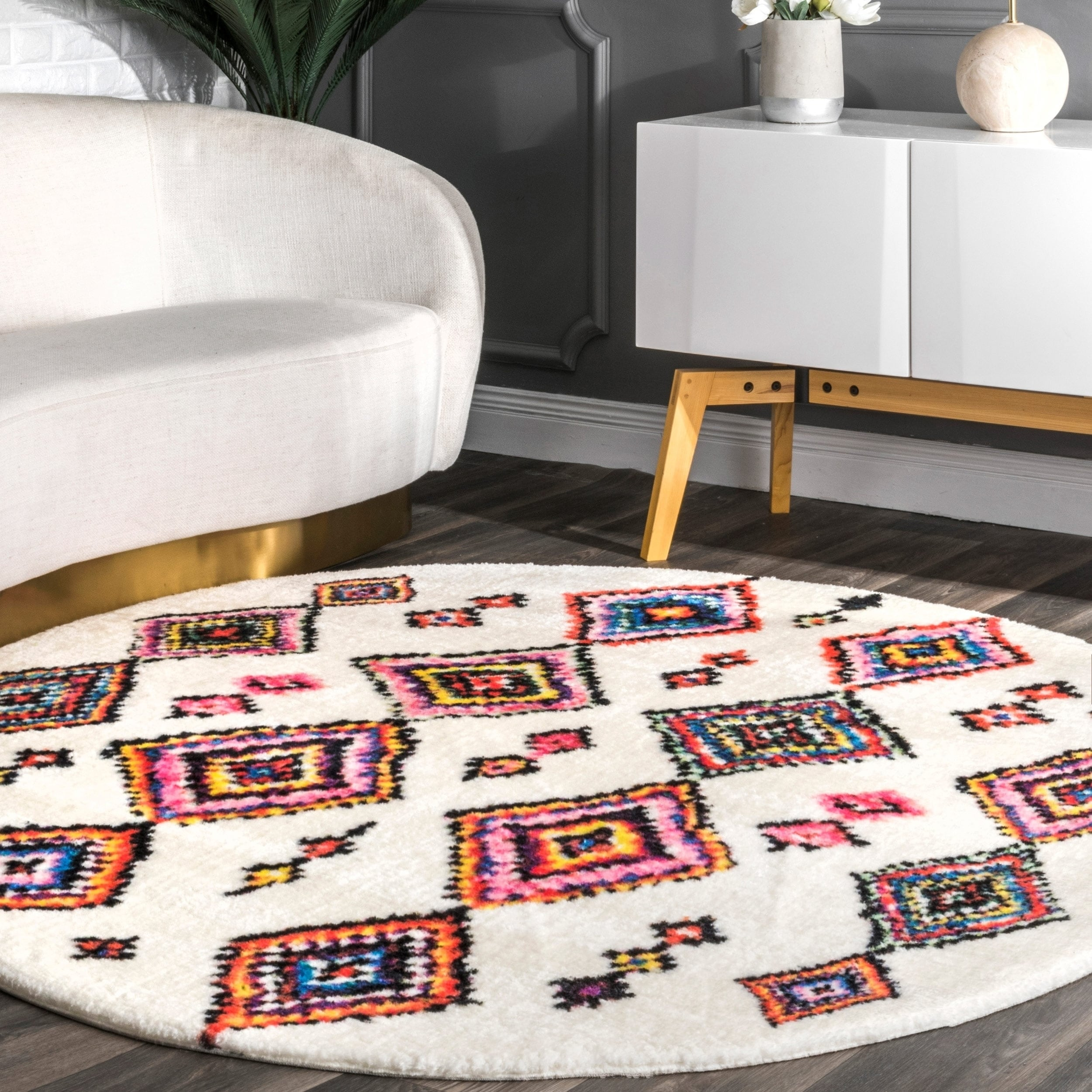 Nuloom Multicolor Transitional Moroccan Inspired Diamond Pattern