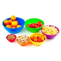 6 Pcs Melamine Mixing Bowls Set