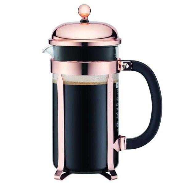French Press Coffee Maker 4 Cup (32 oz) Copper Finish Coffee Plunger