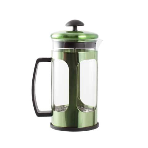 Premium Brew 30 OZ French Coffee Press w/ Fine Mesh Filter & Plunger (Green)