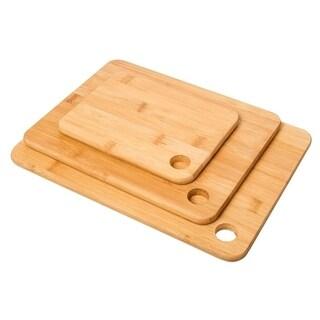 3 Pc Set Kitchen Cutting Board - Serving Board - Bamboo Chopping Board