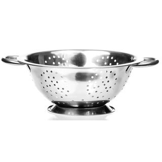 4 Qt High Quality Deep Stainless Steel Colander - Durable Strainer