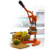 Cast Iron Manual Juicer Juice Press Lemon Citrus Juicer (Orange)