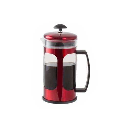 Premium Brew 30 OZ French Coffee Press w/ Fine Mesh Filter & Plunger (Red)