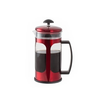 Premium Brew 30 OZ French Coffee Press w/ Fine Mesh Filter & Plunger (Red)