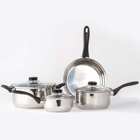 Stainless Steel Cookware Sets 7 Pc Saucepan Fry Pan Cooking Set