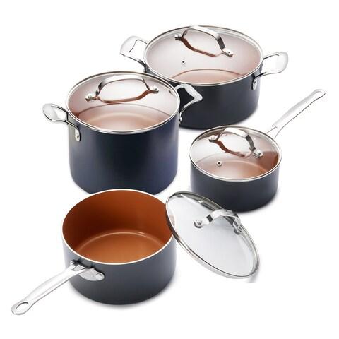 Gotham Steel 8 Piece Sauce Pot Cookware Set