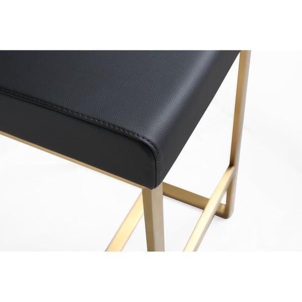 Pleasing Shop Denmark Black Gold Steel Counter Stool Set Of 2 Unemploymentrelief Wooden Chair Designs For Living Room Unemploymentrelieforg