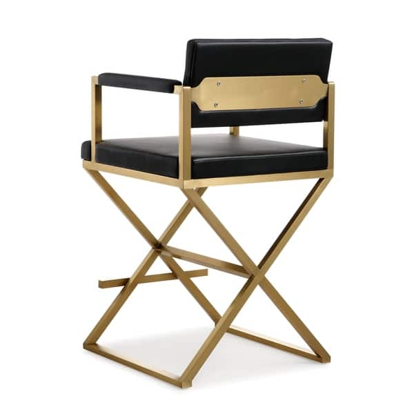 Swell Shop Director Black Gold Steel Counter Stool Free Shipping Unemploymentrelief Wooden Chair Designs For Living Room Unemploymentrelieforg