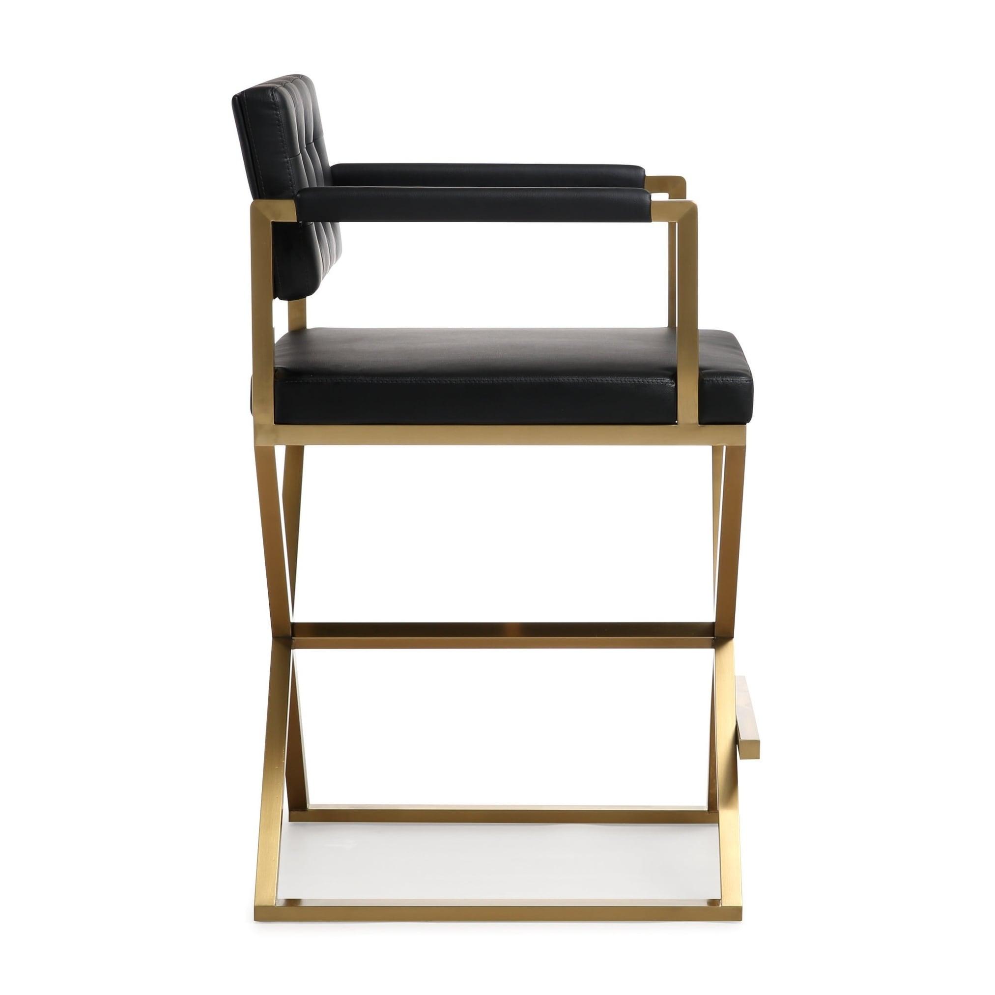 Phenomenal Director Black Gold Steel Counter Stool Unemploymentrelief Wooden Chair Designs For Living Room Unemploymentrelieforg