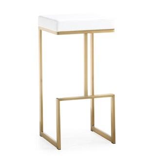 Ferra White Gold Steel Barstool (Set of 2)