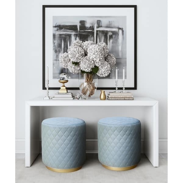 Ideas About Ella Blue Flower Vanity Stool