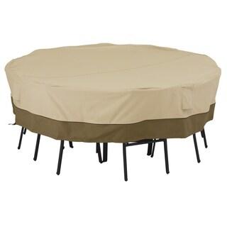 Classic Accessories Veranda Square Patio Table & Chair Set Cover, Medium-Large