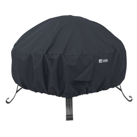 Classic Accessories Water-Resistant 36 Inch Full Coverage Round Fire Pit Cover