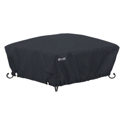 Classic Accessories Water-Resistant 36 Inch Full Coverage Square Fire Pit Cover