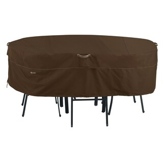 Classic Accessories Madrona RainProof Rectangular/Oval Patio Table & Chair Set Cover, Large