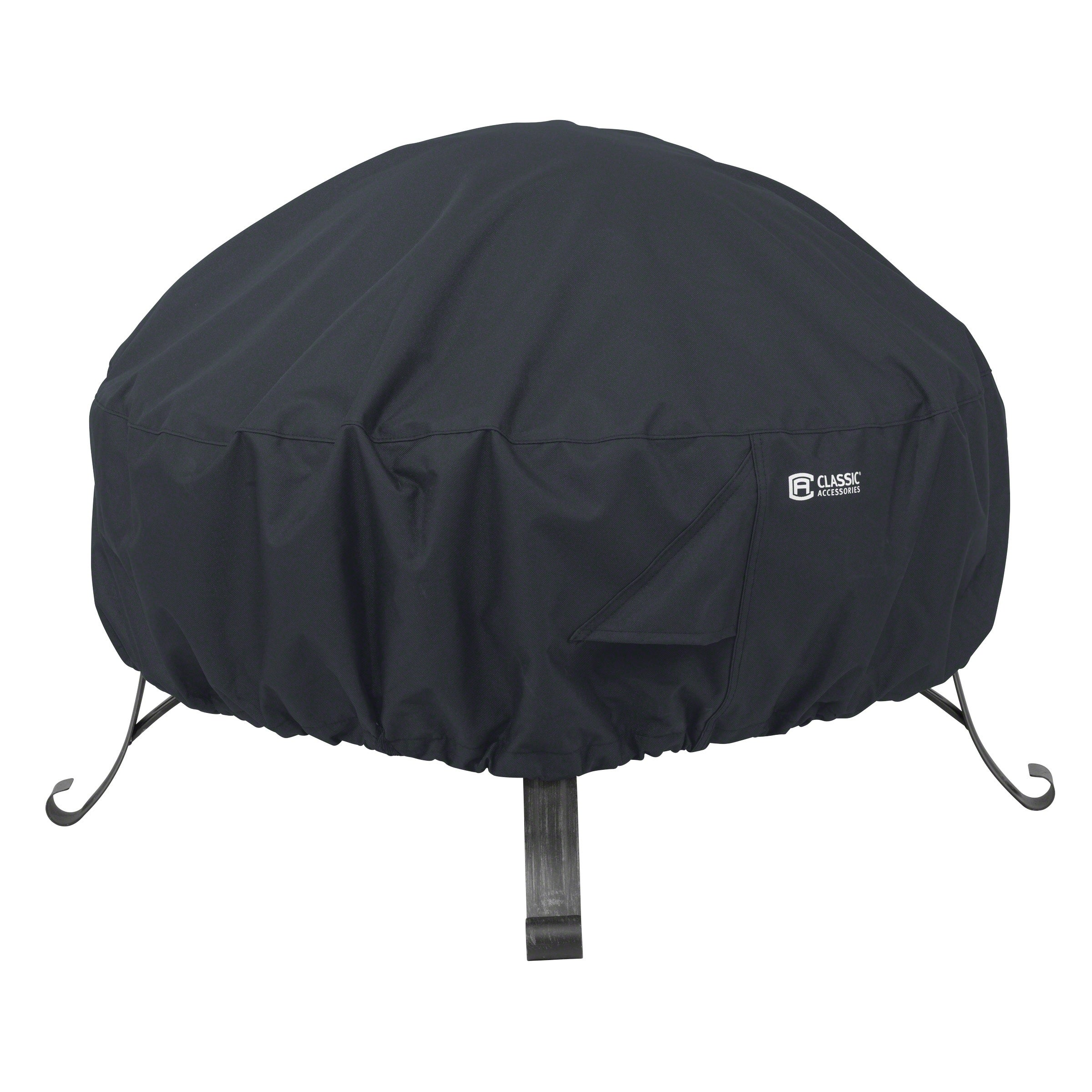 Classic Accessories Water-Resistant 30 Inch Full Coverage Round Fire Pit Cover