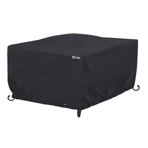 Classic Accessories Water-Resistant 42 Inch Square Fire Pit Table Cover