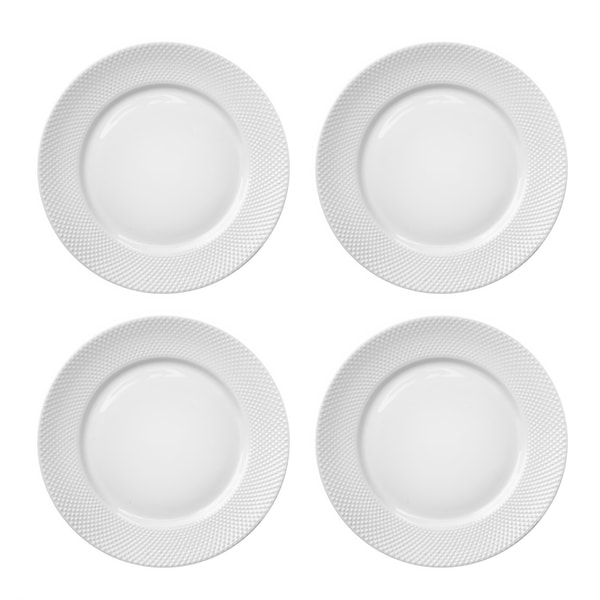Elle Decor Chloe Set of 4 Dinner Plates  sc 1 st  Overstock.ca : dinner plates canada - pezcame.com