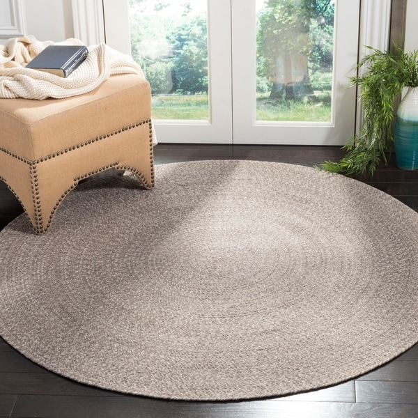 Safavieh Hand-Woven Braided Ivory/ Beige Cotton Rug - 4' Round