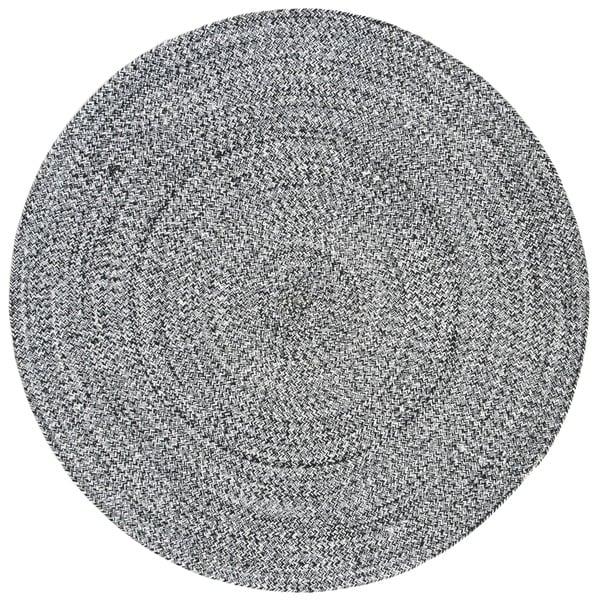 Safavieh Hand-Woven Braided Ivory/ Black Cotton Rug - 6' Round