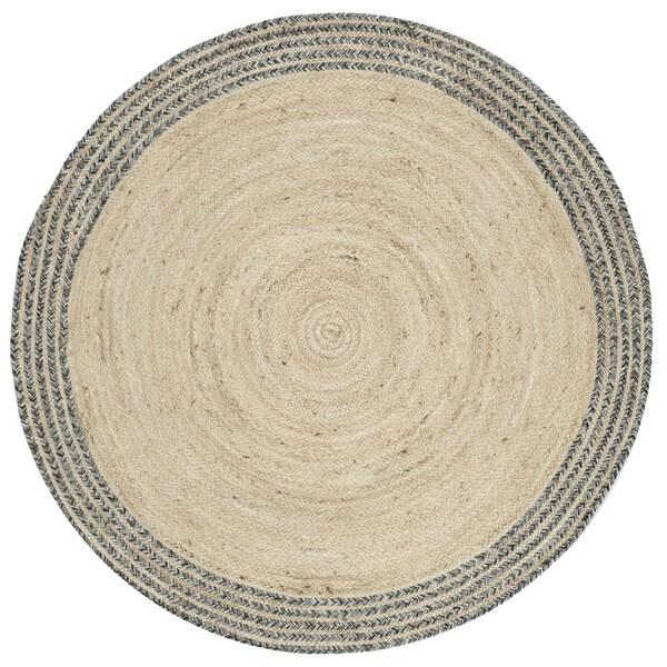 Safavieh Hand-Woven Cape Cod Ivory/ Steel Grey Jute Rug (4' Round)