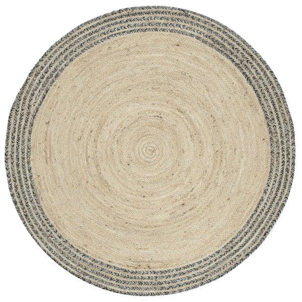 Safavieh Hand-Woven Cape Cod Ivory/ Steel Grey Jute Rug (6' Round)