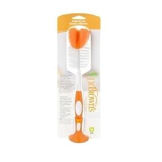 Dr Brown's Natural Flow Bottle Brush, Orange 1 Count