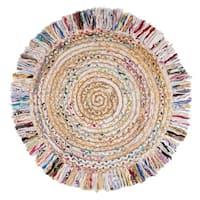 Safavieh Hand-Woven Cape Cod Ivory/ Light Beige Jute Rug (3' Round)