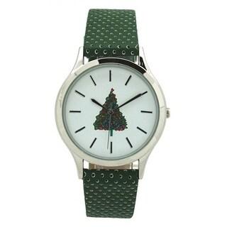 Olivia Pratt Seasonal Holiday Watch With Perforated Strap
