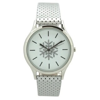 Olivia Pratt Seasonal Holiday Watch With Perforated Strap