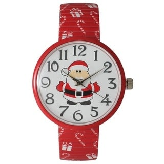 Olivia Pratt Holiday Stretch Band Watch