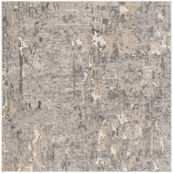 "Safavieh Meadow Grey Rug - 6'7"" x 6'7"" square"
