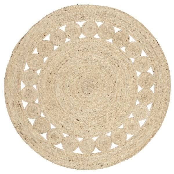 Safavieh Hand-Woven Natural Fiber Ivory Jute Rug (3' Round)