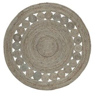 Safavieh Hand-Woven Natural Fiber Grey Jute Rug (3' Round)