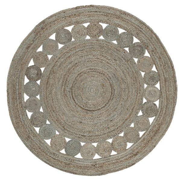Safavieh Hand-Woven Natural Fiber Grey Jute Rug - 4' Round