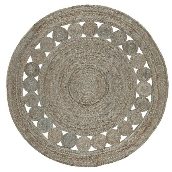 Safavieh Hand-Woven Natural Fiber Grey Jute Rug - 5' Round