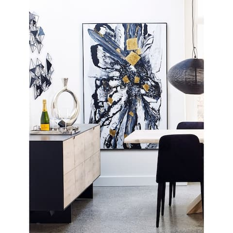 Aurelle Home Modern Abstract Canvas Wall Decor Painting