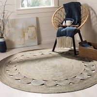 Safavieh Handmade Natural Fiber April Grey Jute Rug - 6' x 6' Round