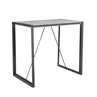 Aurelle Home Bronx Light Brown Wood Bar Table