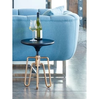 Aurelle Home Copper Adjustable Contemporary Modern Industrial Accent Table