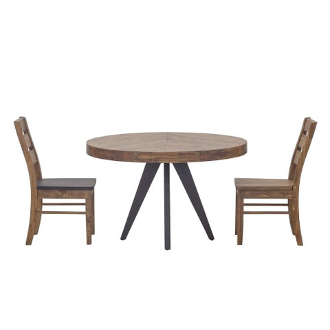 Aurelle Home Cappuccino Wood Round Dining Table