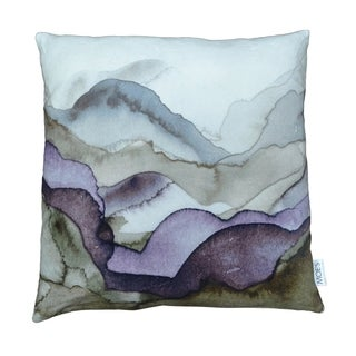 Mountains Multi 24-inch Square Feather Velvet Pillow