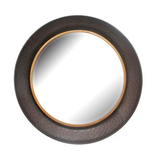 Aurelle Home Gold Small Metal Mirror