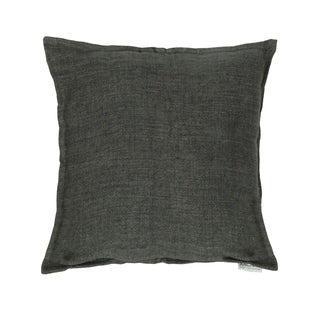 Aurelle Home 20-inch Square Feather Contemporary Linen Pillow