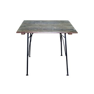 Aurelle Home Natural Reclaimed Wood Square Table